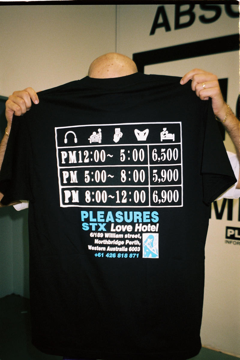 Highs & Lows and PLEASURES Streetx HAL exclusive pop up perth australia t shirt