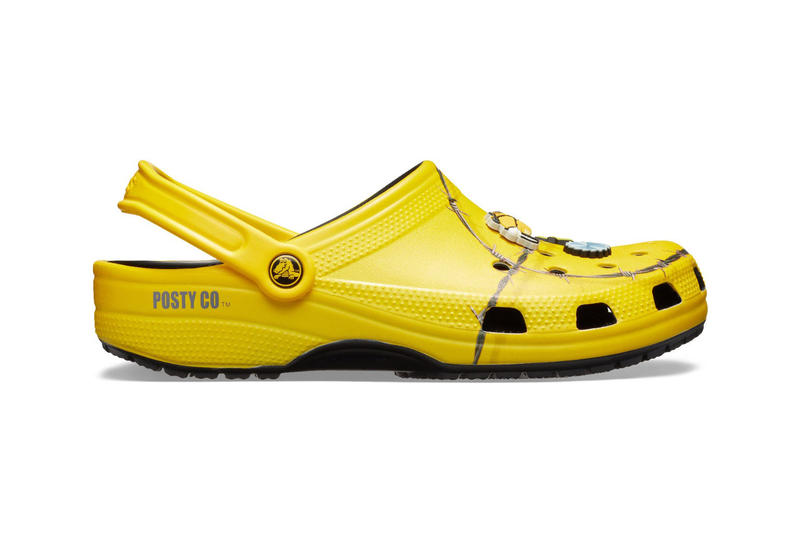 "Post Malone x Crocs ""Barbed Wire"" Clog Release  beerbongs and bentleys posty co"