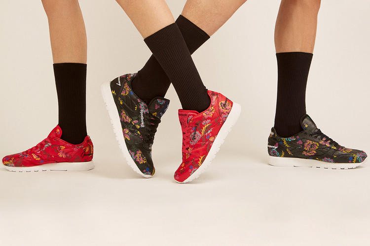 9294fbd2 Opening Ceremony Wraps the Reebok Classic Leather in Floral Print