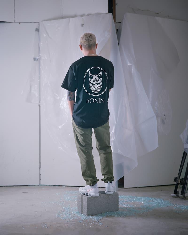 Rōnin Fall Winter 2018 Collection Part 1 clothing streetwear menswear mens apparel sherpa hoodie corduroy button down shirt tee t nylon track pants bdu nuke ironman
