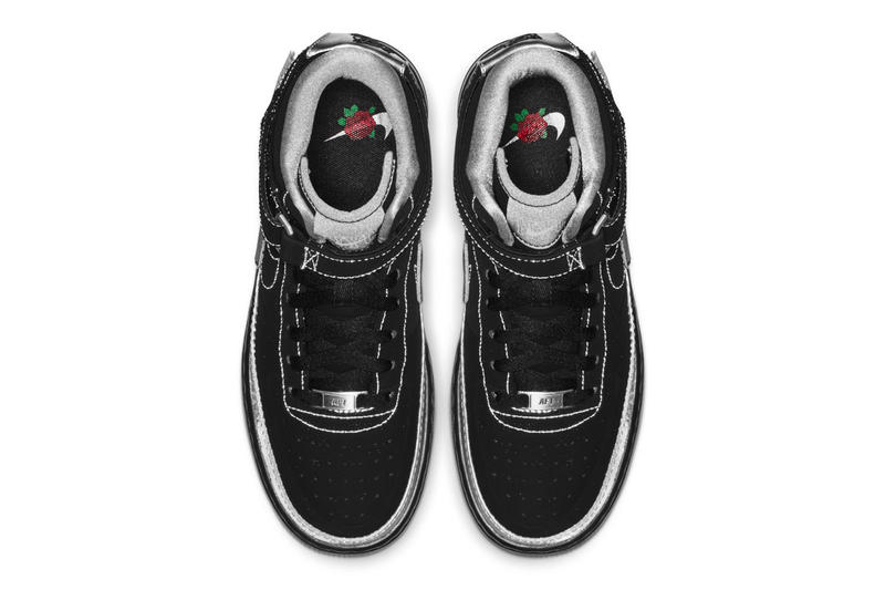 Rox Brown x Nike WMNS Air Force 1 Jester High release info date price sneaker black silver rose collaboration women's