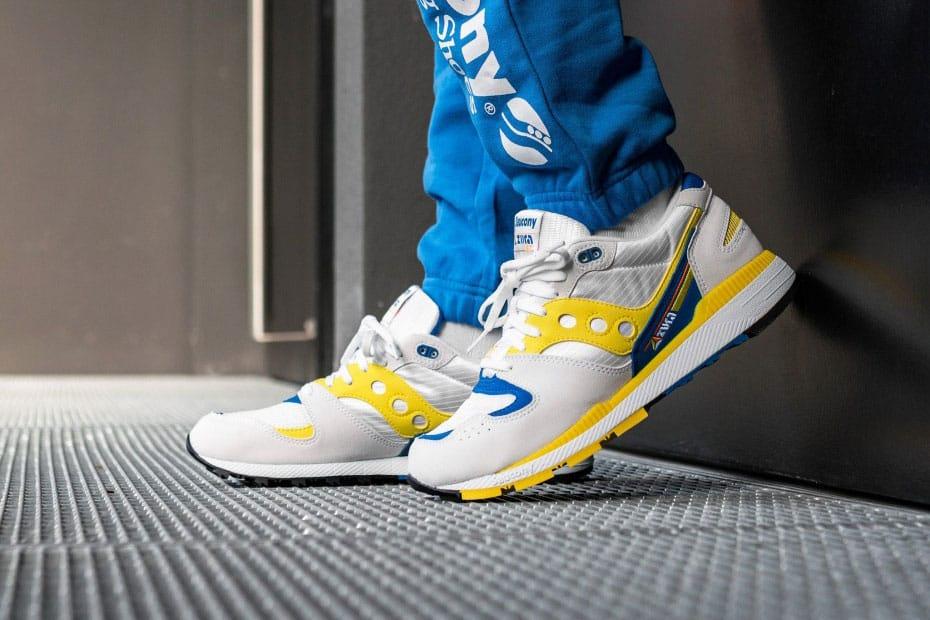 Saucony Azura OG White/Blue/Yellow