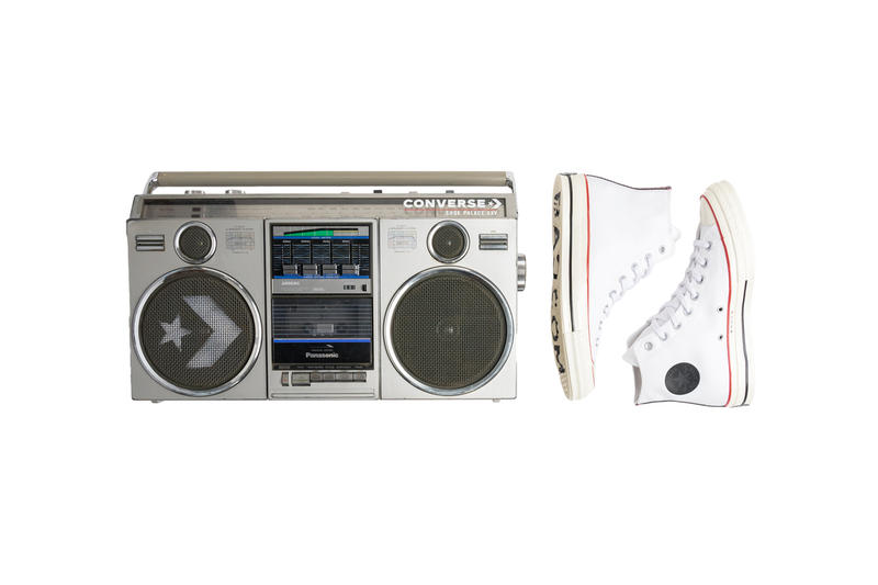 Shoe Palace x Converse Bundle sneakers boombox speakers 25th anniversary Chuck Taylor All Star 70 HI