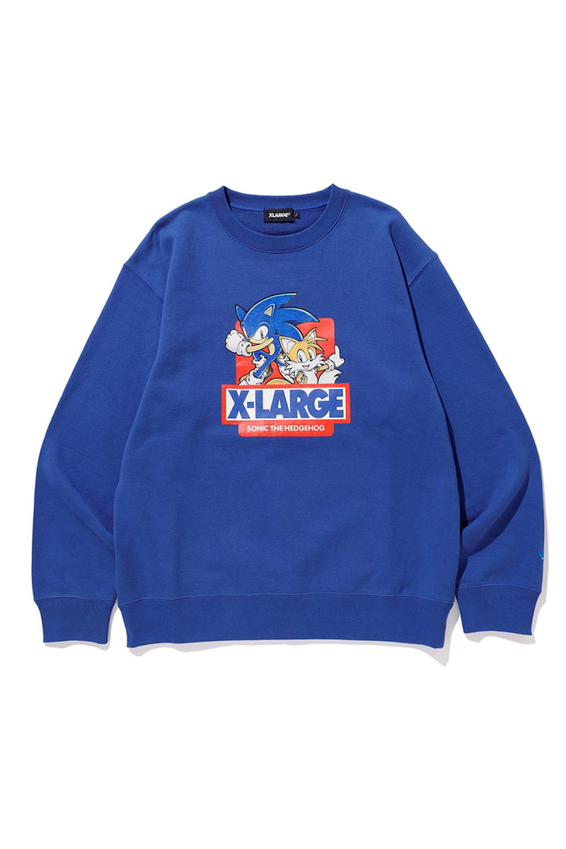 'Sonic the Hedgehog' x Xlarge Capsule Collection collaboration hoodie pullover jumper sweater tee shirt jacket varsity pants drop release date info january 1 2019