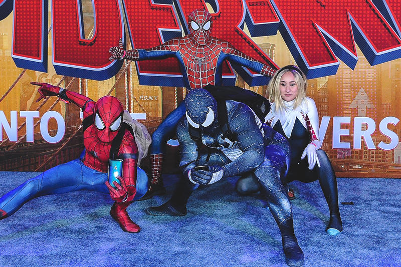 Spider-Man: Into the Spider-Verse $35.4M USD Debut top of box office movies films marvel comics