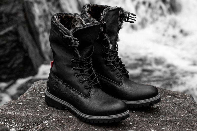 9723458b55ba STAMPD x Timberland Gaiter Boot Release Date info price leather boot winter  2018 black lined fur