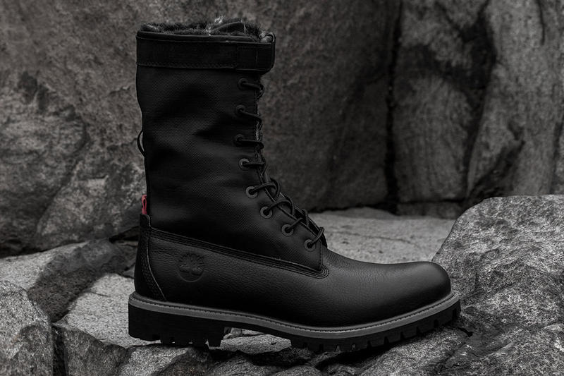 STAMPD x Timberland Gaiter Boot Release Date info price leather boot winter 2018 black lined fur footwear size LAPD