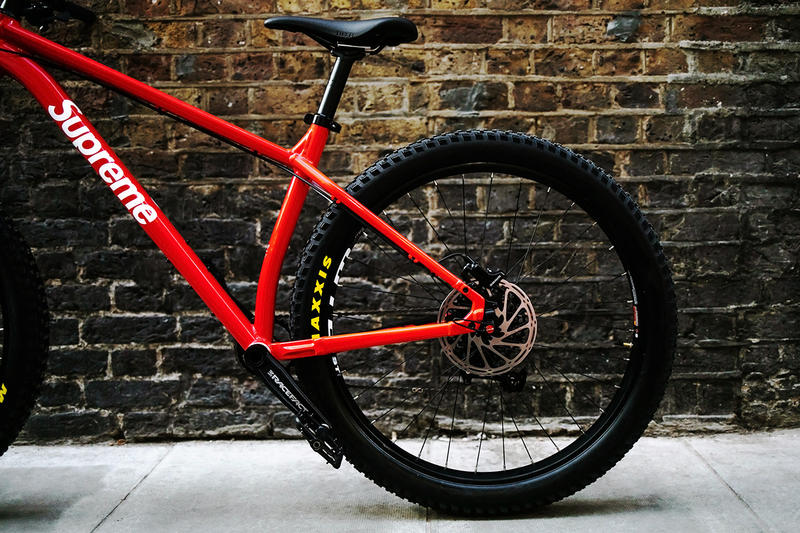 "Supreme Santa Cruz Chameleon 27.5""+ Complete Mountain Bike red logo black tires frame wheel saddle"