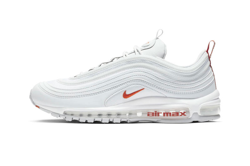 huge discount 898e7 6acb1 Nike Air Max 97 Team Orange Release Date sneaker shoes Pure Platinum White