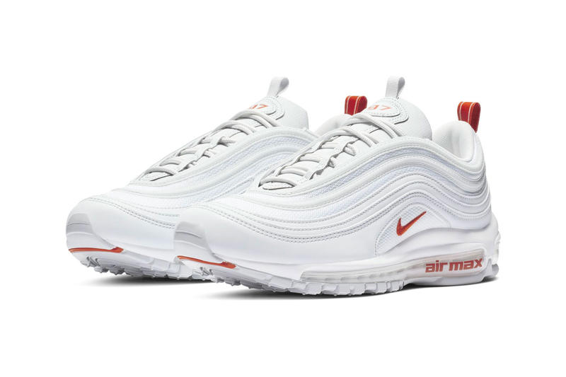 Nike Air Max 97 Team Orange Release Date sneaker shoes Pure Platinum White