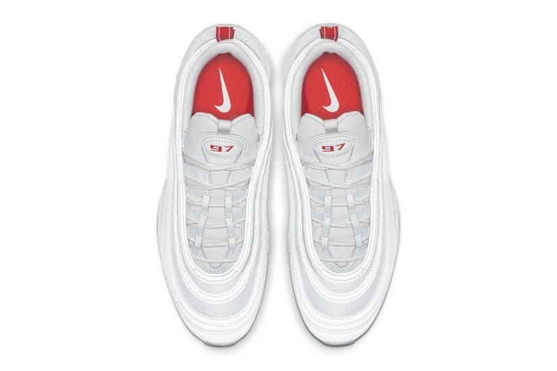 Nike Air Max 97 Team Orange Release Date sneaker shoes Pure Platinum White