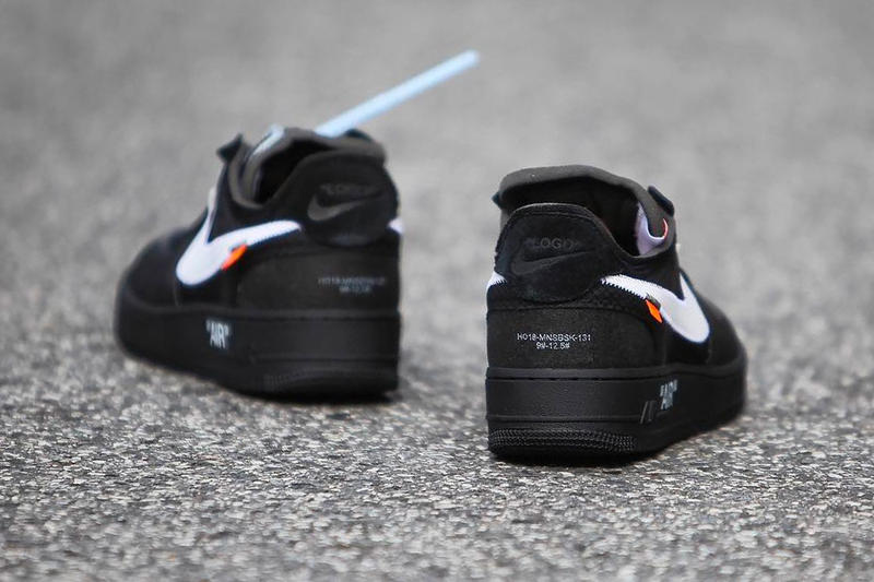 Nike Off White Air Force 1 af1 Black Cone Volt Release december 19 2018 price black neon yellow Virgil Abloh AO4606-001 AO4606-700