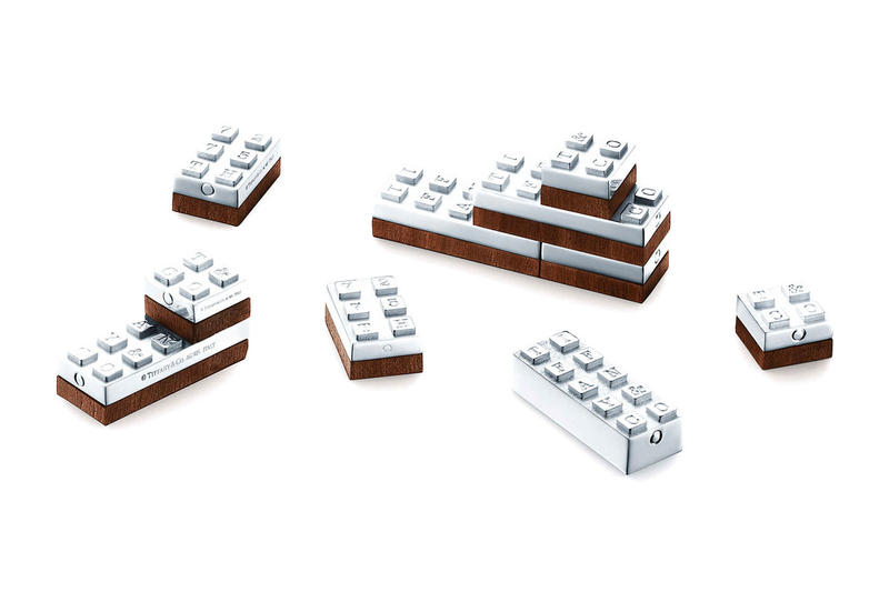 Tiffany & Co. Sterling Silver Building Blocks Info  luxury sterling silver design blocks wood table desk ornaments