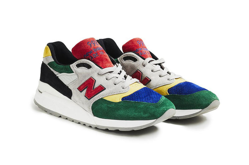 todd snyder new balance 998 color spectrum red green blue yellow 2018 footwear