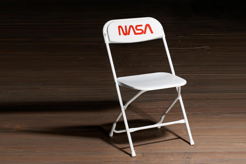Tom Sachs Mars Space Program Foldable Chair Art Samsonite Mission Control Audience White Red Seat