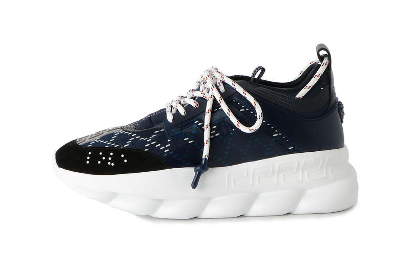 Versace UNITED ARROWS & SONS Chain Reaction sashiko sneaker runner december 2018 release date info exclusive poggy salehe bembury navy white colorway japan