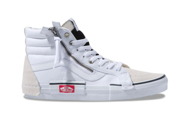 14819a7deb Vans Sk8 Hi Deconstructed White Release Info Date Reissue checkerboard  black cap Inside Out