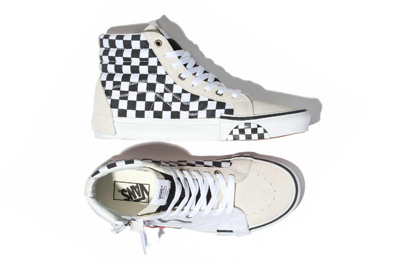 1745aa72880 Vans Sk8 Hi Deconstructed White Release Info Date Reissue checkerboard black  cap Inside Out