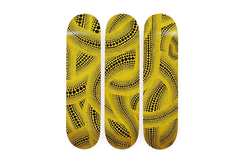 Yayoi Kusama x MoMA Skate Decks Giveaway Dots Pumpkins Trees