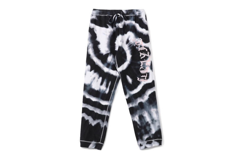 yohji yamamoto pink ys label nasa logo tie dye purple black tee shirt hoodie sweat pants drop release collection womenswear mens print graphic
