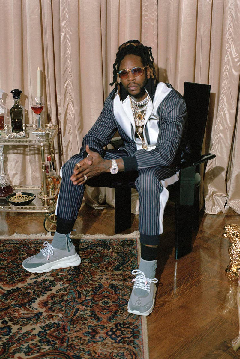 "2 Chainz Versace ""2 Chain Reaction"" Capsule collaboration february 1 2019 drop release date info buy atlanta ready to wear athleisure america usa"