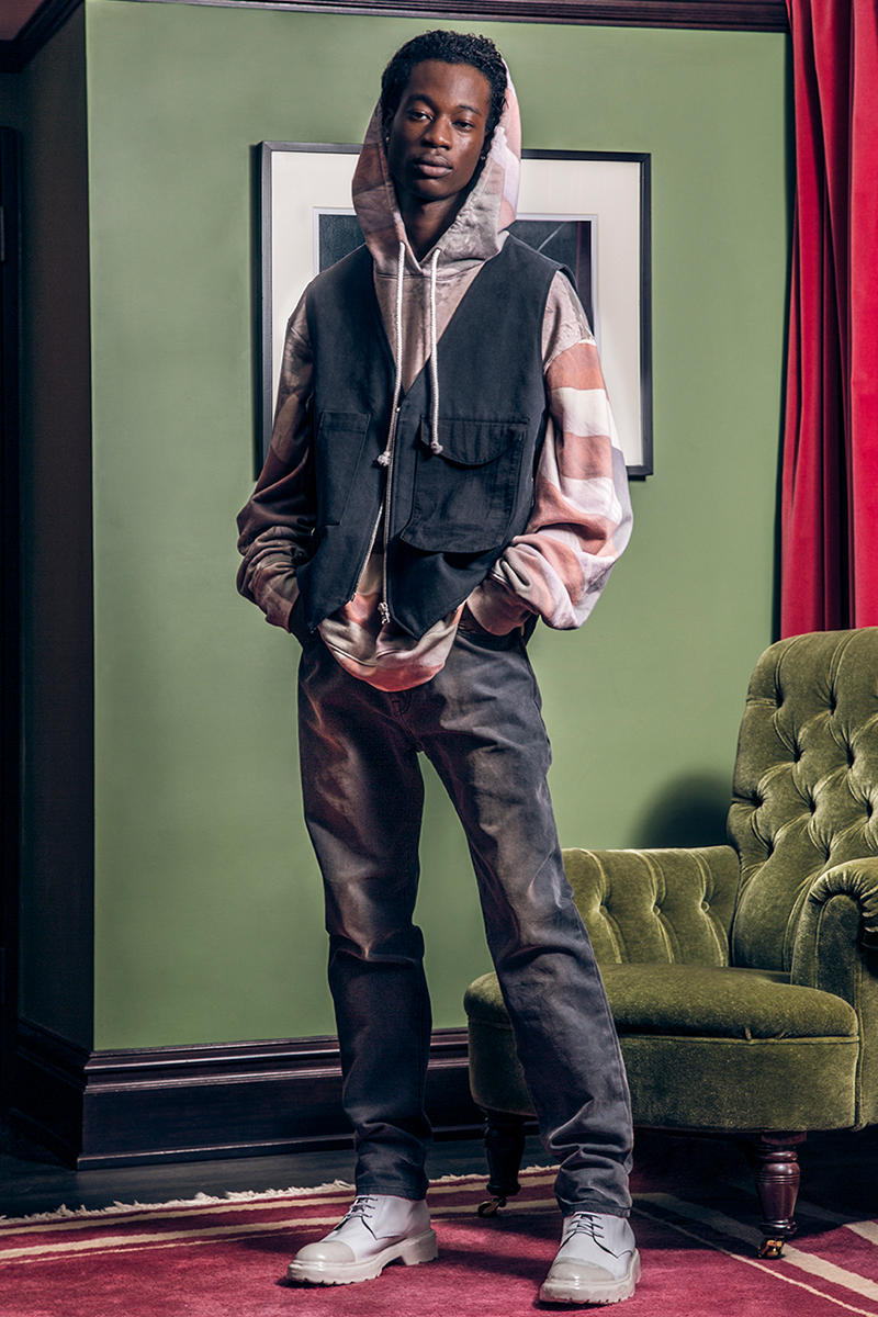 424 Spring Summer 2019 Collection Lookbook guillermo andrade Fairfax FOURTWOFOUR Jacket hoodie Jeans Denim