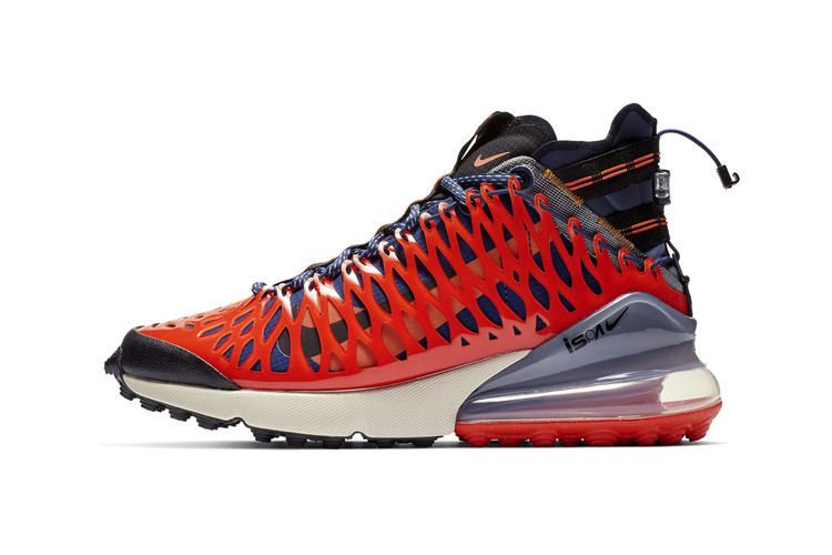"ed08aba2aba602 Nike Wraps Blue ISPA Air Max 270 SP SOE in ""Terra Orange"" Cage"