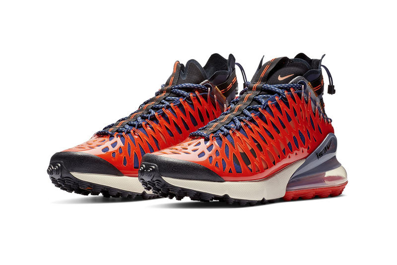 ISPA Air Max 270 SP SOE Nike Blue Void Terra Orange Cage Frame Technical Kiko Kostadinov ASICS Details Release Date Closer Look First Look US11