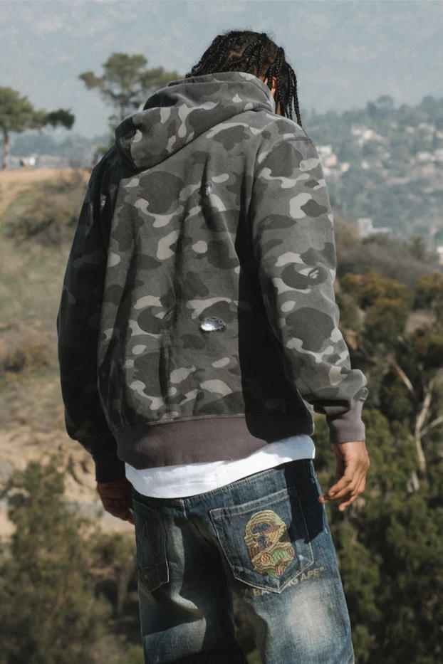 A Bathing Ape Release Vintage Denim Collection Featuring Shark Motifs and Ape Heads