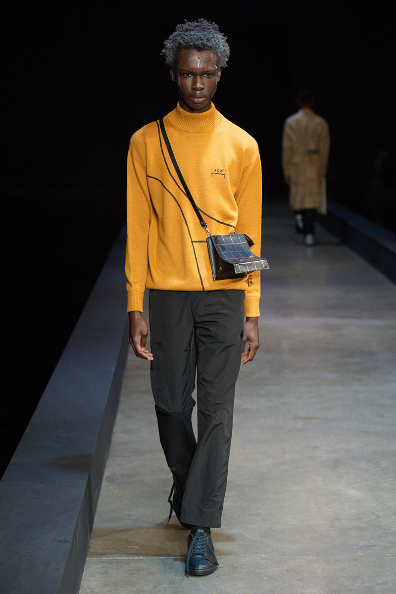 A-COLD-WALL* Fall Winter 2019 London Fashion Week Mens Runway Presentation Samuel Ross Nike Zoom Vomero +5 Show Collection BIRTH.ORGAN.SYNTH.
