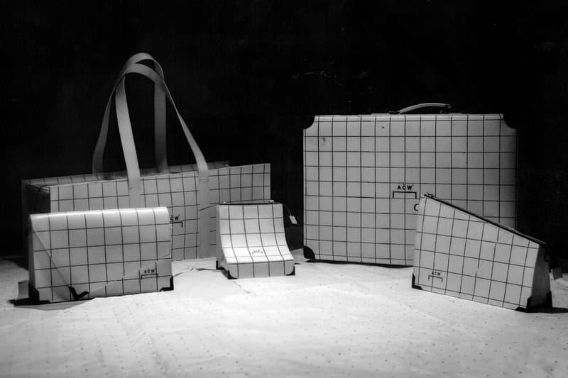 A-COLD-WALL* Leather Luggage Preview Samuel Ross Black White Grid Sizes architecture architects Adolfo Natalini Cristiano Toraldo Di Francia.