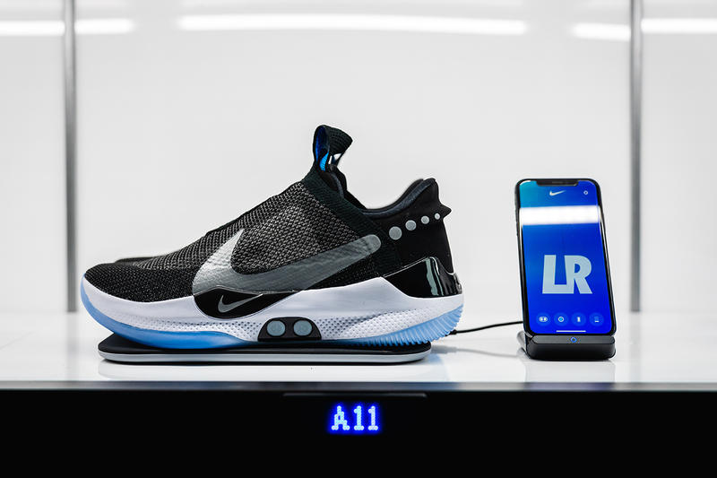 inside nike adapt bb reveal 2019 january footwear nike basketball jayson tatum eric avar wear test on foot event new york city feet model closer look