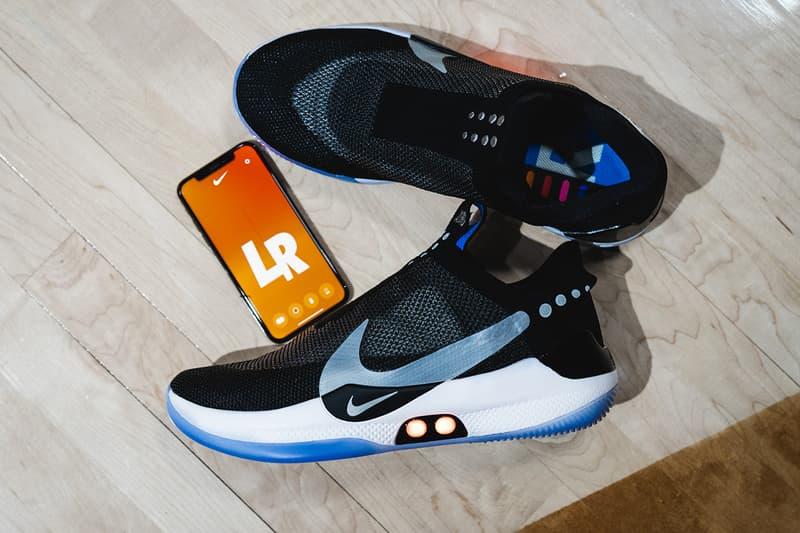inside nike adapt bb reveal 2019 january footwear nike basketball jayson tatum eric avar wear test on foot event new york city feet model closer look