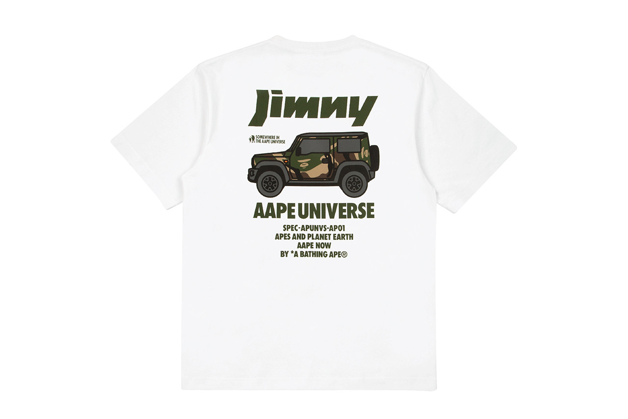 AAPE Island Motors Suzuki Jimny TShirt camouflage wrap collaboration scarf branding logo bape hong kong bathing ape green towel