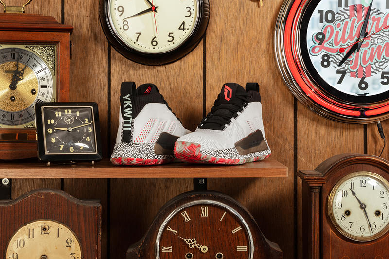 adidas dame 5 footwear basketball portland trailblazer trail blazers hoops 2019 february damian lillard sneakers footwear shoes