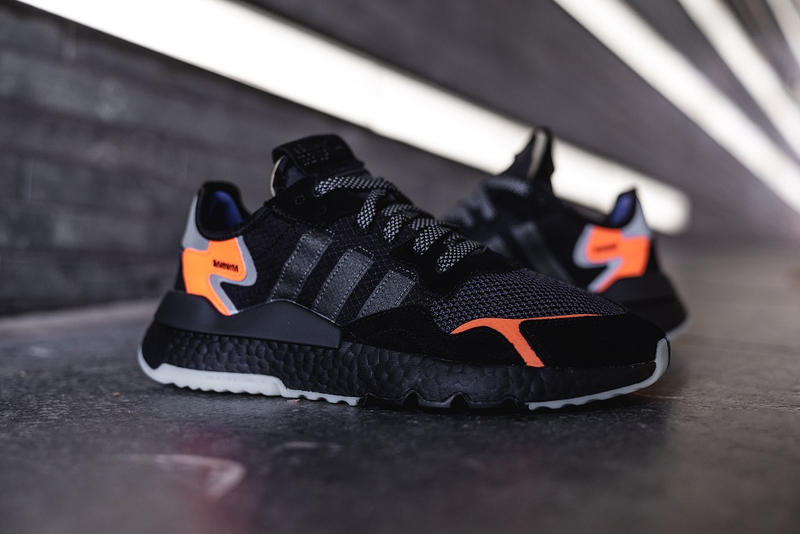 adidas nite jogger core black orange 2019 release date details info january fall winter fw18 2018 12 carbon active blue sneaker sneakers shoe shoes