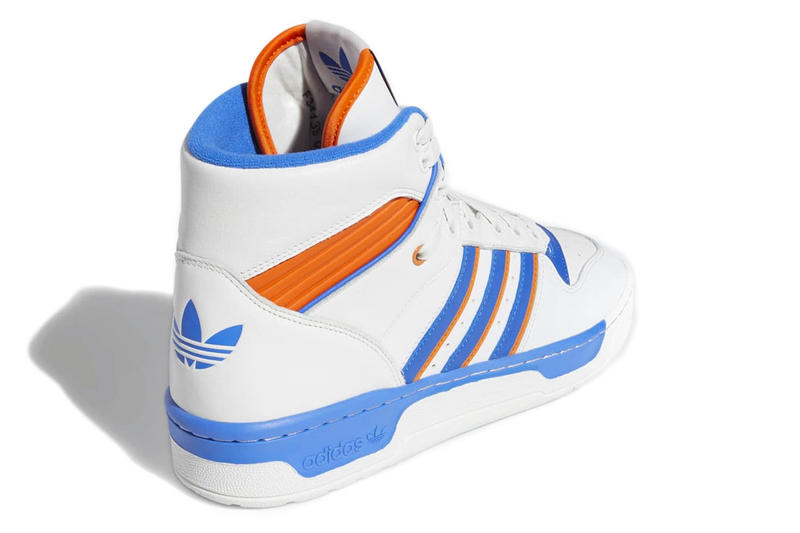 adidas Originals Reissues Vintage Rivalry Hi release date prices images info patrick ewing white blue orange new york knicks black footwear sneakers