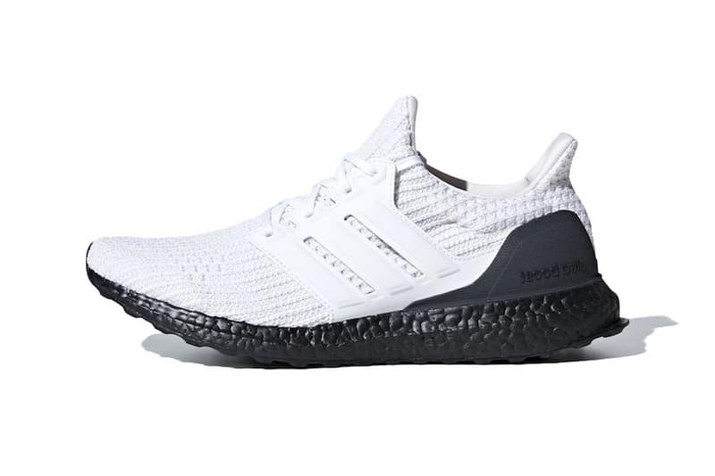 adidas ultraboost white black 2019 footwear upper primeknit boost sole