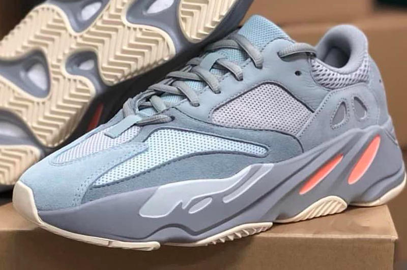 902494899 adidas YEEZY BOOST 700 Inertia Another Look steel blue peach off white  Kanye West Box Real