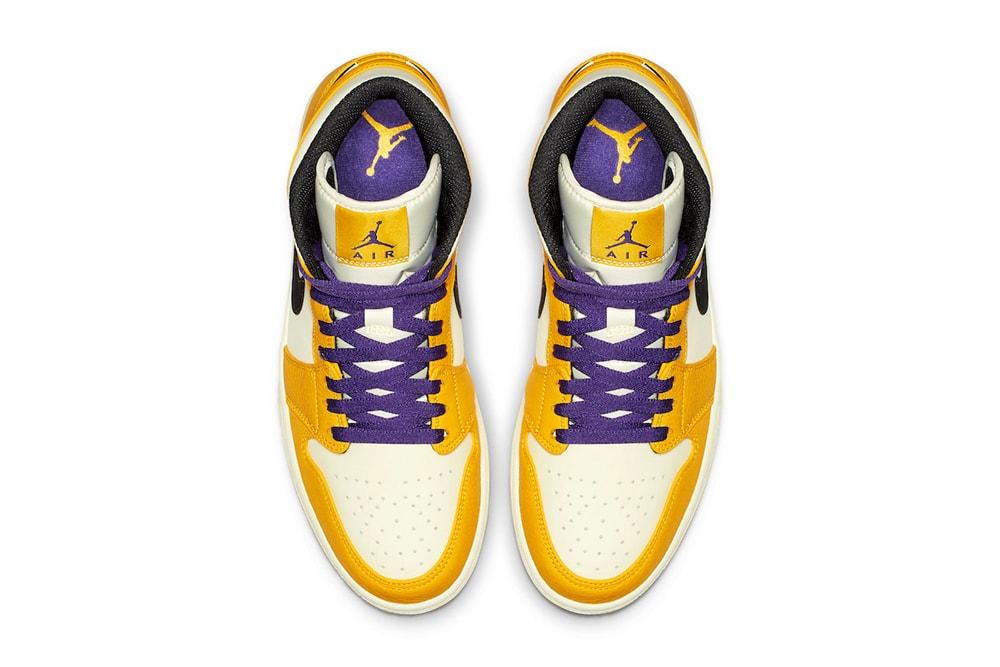726516e0c21 Air Jordan 1 Mid Lakers Colorway Release