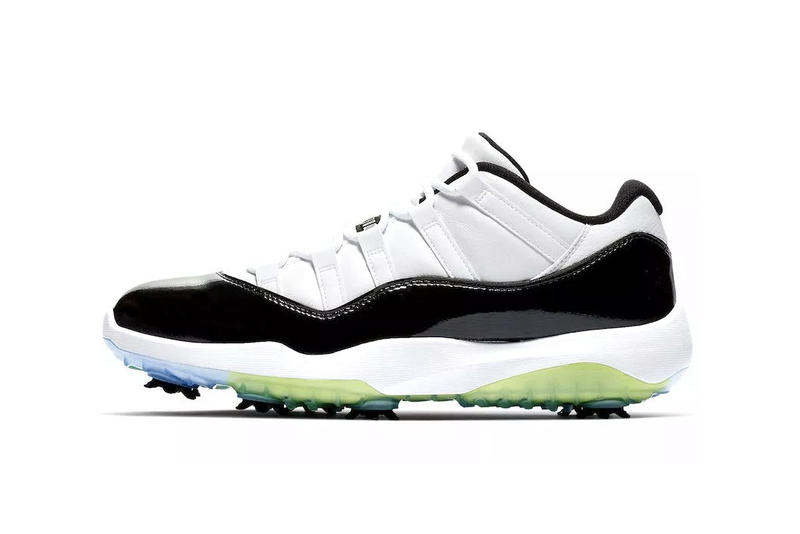 new concept c3eb8 8267a Nike Air Jordan 11 Concord Golf Low Patent Leather Michael Jordan Cleats  shoes sneakers release date