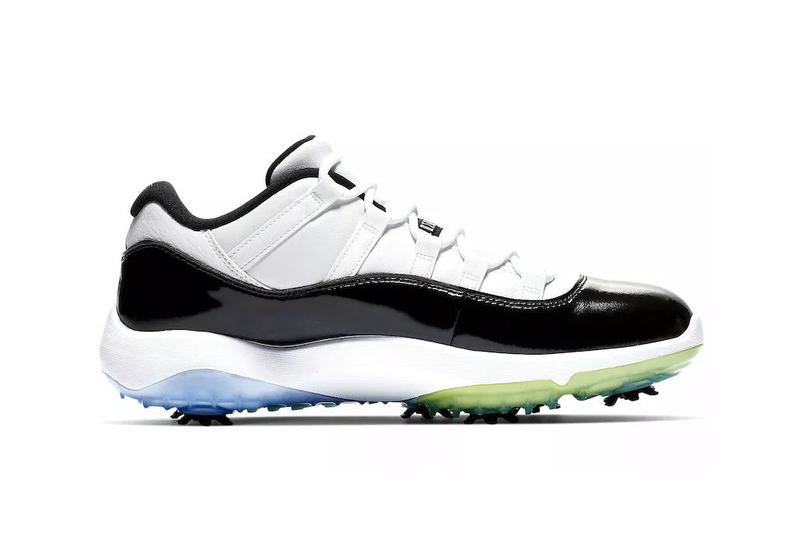 Nike Air Jordan 11 Concord Golf Low Patent Leather Michael Jordan Cleats shoes sneakers release date info details february 15 2019 black white