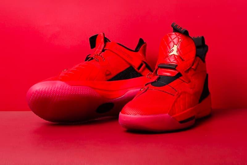 2b252bbdc4d8e2 Air Jordan 33 Gets a Full Red Release nike jordan brand chinese new year