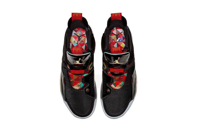 air jordan 33 chinese new year 2019 january footwear jordan brand clean look black red gold year of the pig