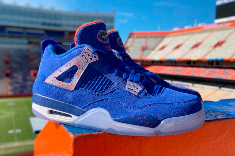 cee445854b4 A Better Look at the Florida Gators Air Jordan 4 PE