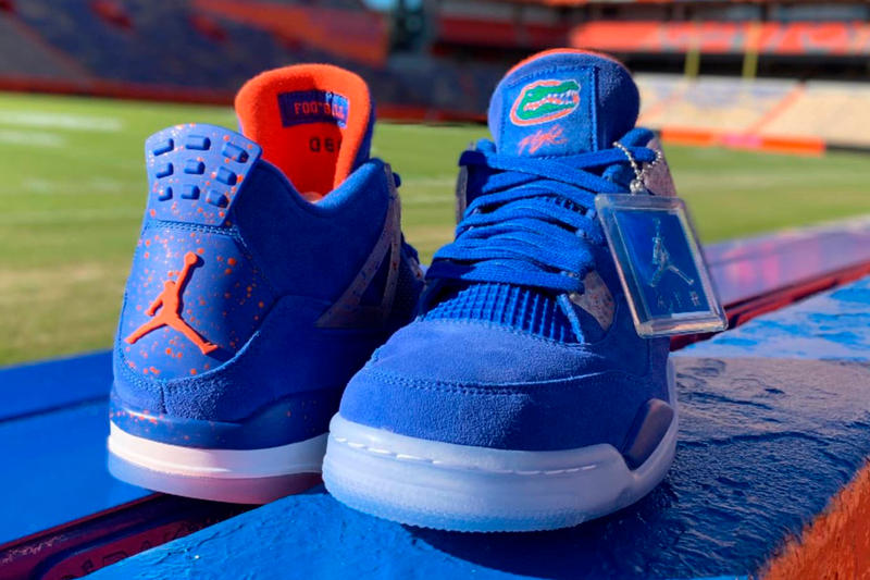 Air Jordan 4 Florida Gators PE closer look football america jordan brand