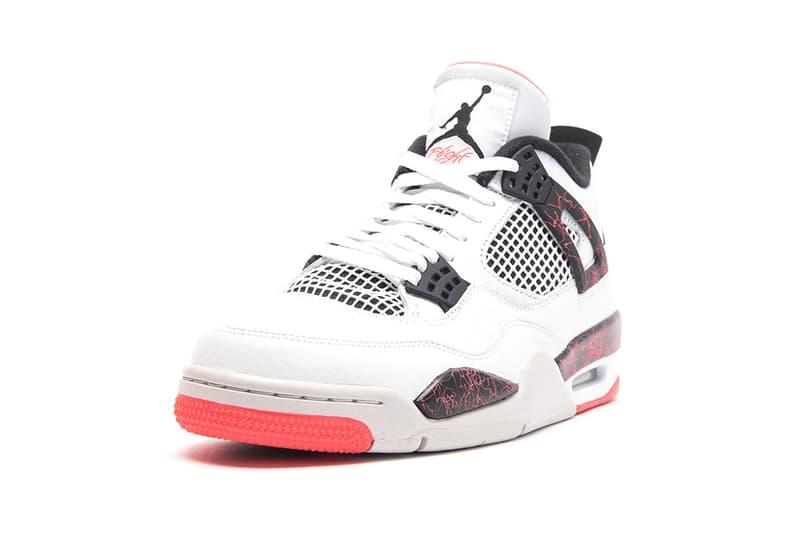 """Air Jordan 4 Retro """"Bright Crimson"""" Release Info stockist price pricing drop date White/Black-Bright Crimson-Pale Citron march 2"""