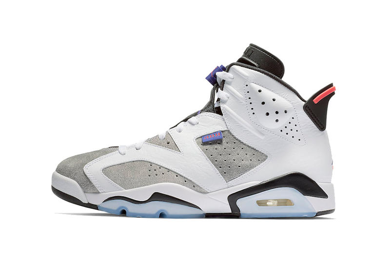 "4a6df2b53f8a3a Ahead of a rumored Nike Air ""Infrared"" 6 release. air jordan 6 white dark  concord black 2019 january footwear ..."