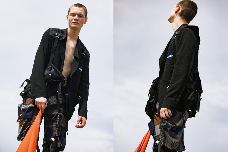 ALMOSTBLACK SS19 spring summer 2019 Collection Lookbook Patchwork Minimalist Workwear Utility Japan
