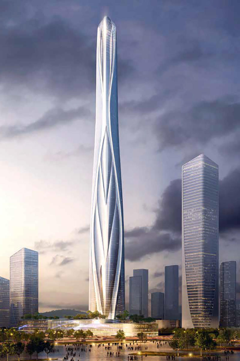 Shenzhen-Hong Kong International Center Will Be China's Tallest Skyscraper info images adrian smith gordon gill architecture design building